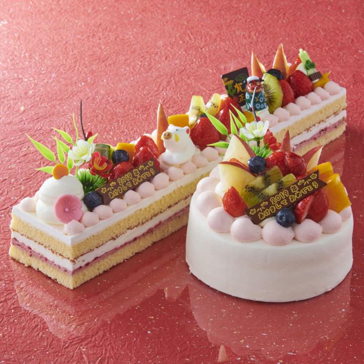 おせち料理に合わせて、ケーキもお正月らしく華やかに!