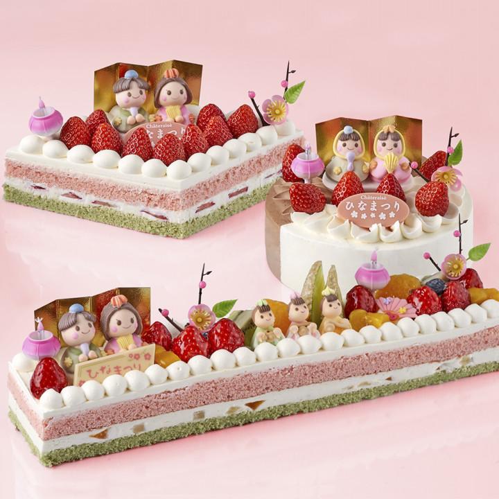 もはや常識?!ケーキでひな祭り。