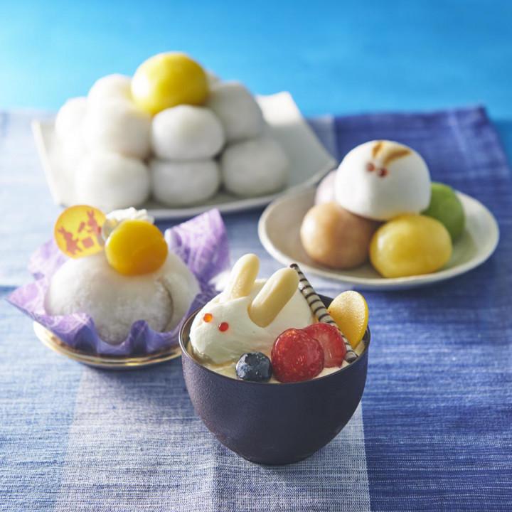 今年の十五夜は休日。甘いお菓子と一緒にお月見を楽しみましょう。