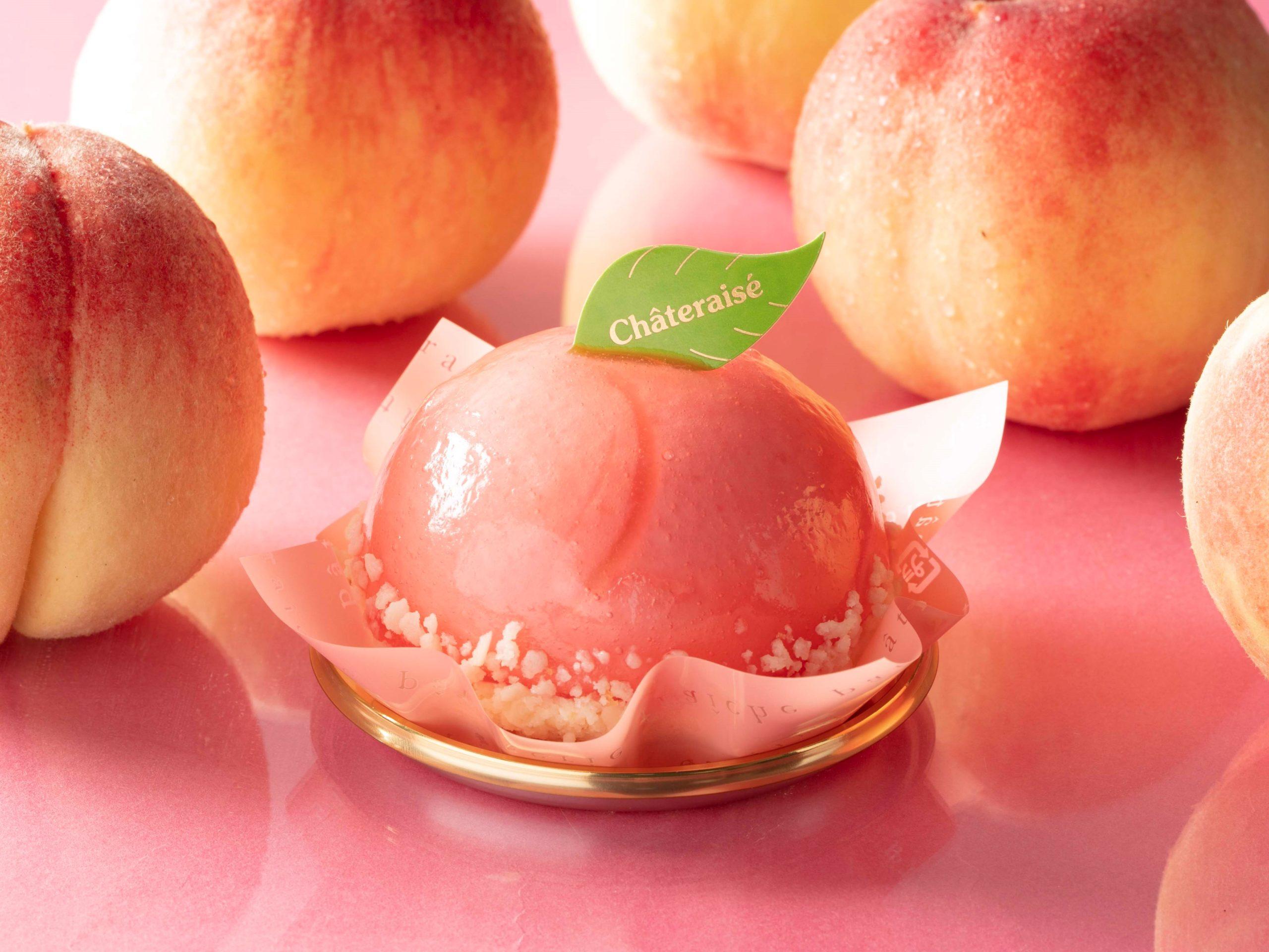 まんまる白桃ケーキ_画像