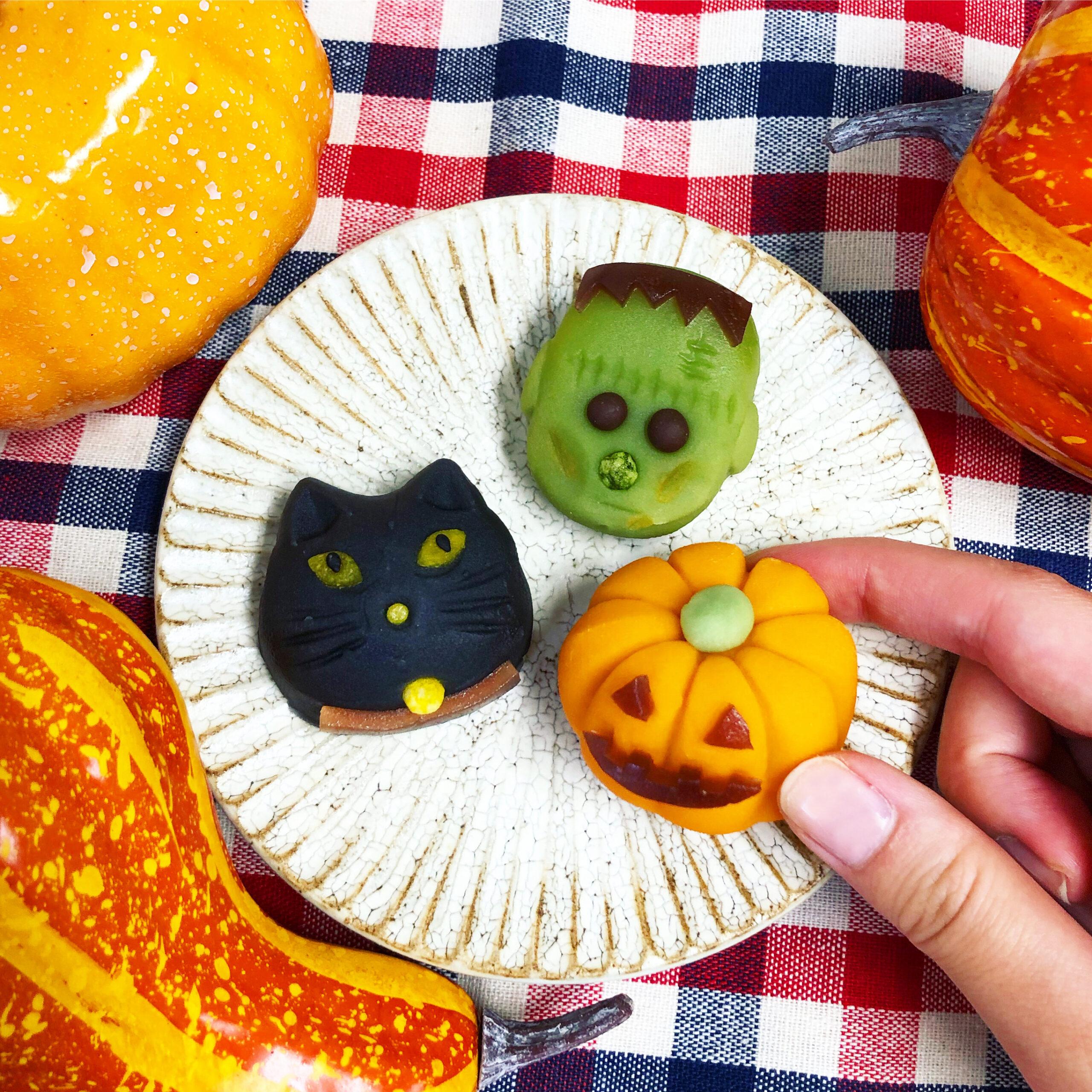 ハロウィン創作和菓子_画像
